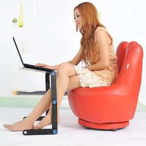 Adjustable Aluminum Laptop Desk Ergonomic Portable PC Table Stand Notebook Table Desk Stand With Mouse Pad