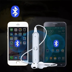 Wireless Bluetooth Earphones Noise Cancelling Headset Neckband Stereo In-Ear With Microphone