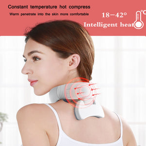 Smart 4D Magnetic Pulse Heated Electric Far Infrared Heating Neck Massager