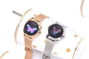 DZST Smart Watch Women Waterproof Luxury Metal Heart Rate Sleep Monitor