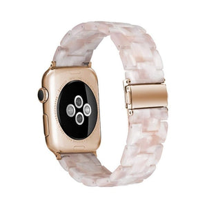 Resin Watch Strap For Apple Watch Transparent Steel