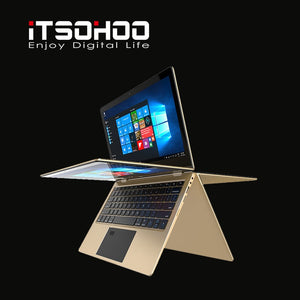 11.6 inch Convertible Laptops 360 Degree Touch Screen Notebook iTSOHOO 8GB Ram Fingerprint Unlock Computer