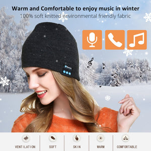 Bluetooth Earphone Music Hat Winter Wireless Headphone Cap Headset With Mic Sport Hat