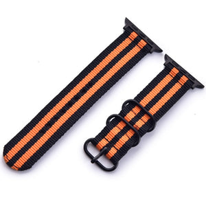 Nylon Watchband for Apple Watch Band Series 4/3/2/1 Sport Leather Bracelet 42 mm 38 mm Strap