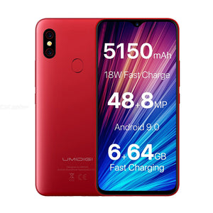 "UMIDIGI F1 Play 48MP/8MP/16MP 5150mAh Mobile Phone Android 9.0 6GB RAM 64GB ROM 6.3"" FHD Global Version Smartphone Dual 4G"