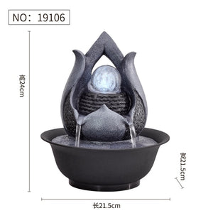 Resin Decorative Fountains Indoor Water Fountains Creative Craft Home Decor Home Figurines FengShui Water Fountain