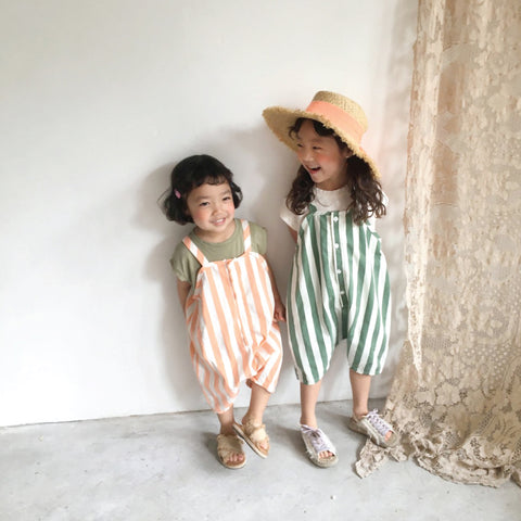 Popeye Striped Overall