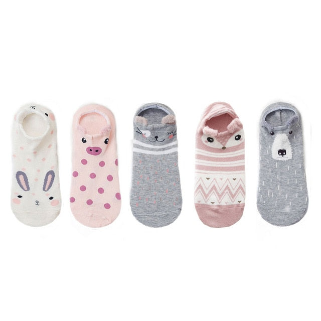 Cute Animal Cotton Socks