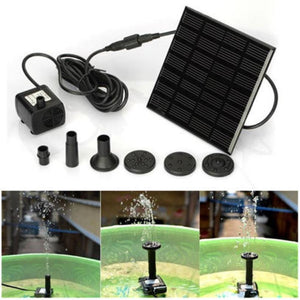 Outdoor Solar Powered Bird Bath / Water Fountain /  Pump For Pool  / Garden Aquarium