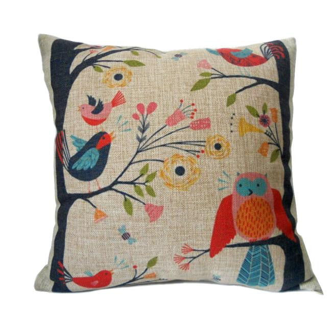 Birds on Tree Pillow Case / Cushion Cover