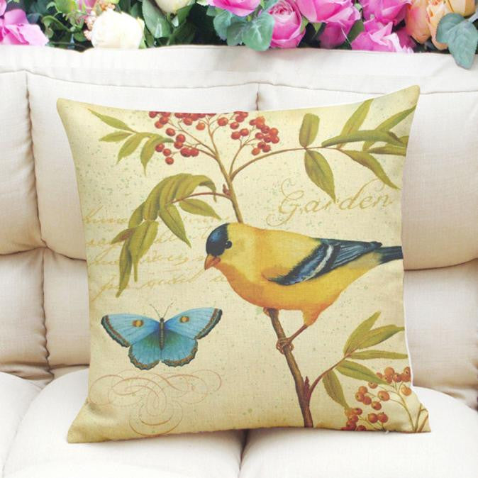 Birds Pillow Case Cushion Cover