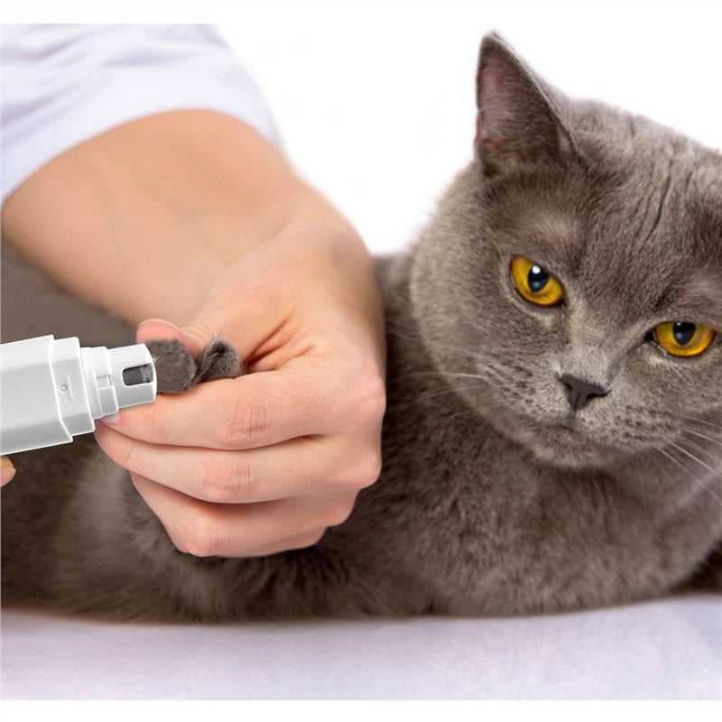 Electric Pet Nail Grinder Trimmer Clipper