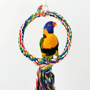 Rope Bungee Bird Toy, Cotton