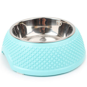 Stainless Steel Pet Bowl - Dry Food & Water Bowls for Cats & Dogs