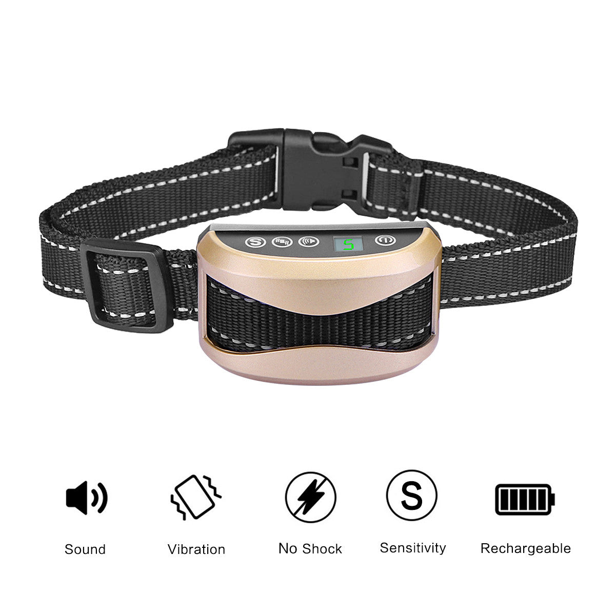 Rechargeable Anti-Bark Dog Training Collar Without Shock