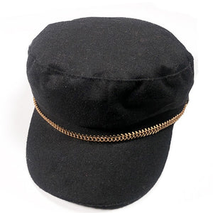 SHOWERSMILE Black Newsboy Caps