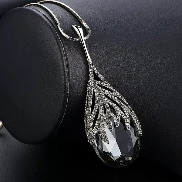 Fashion Waterdrop Shaped - Big Pendant Necklace