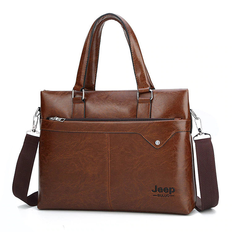 New Men Briefcase PU Leather Bag