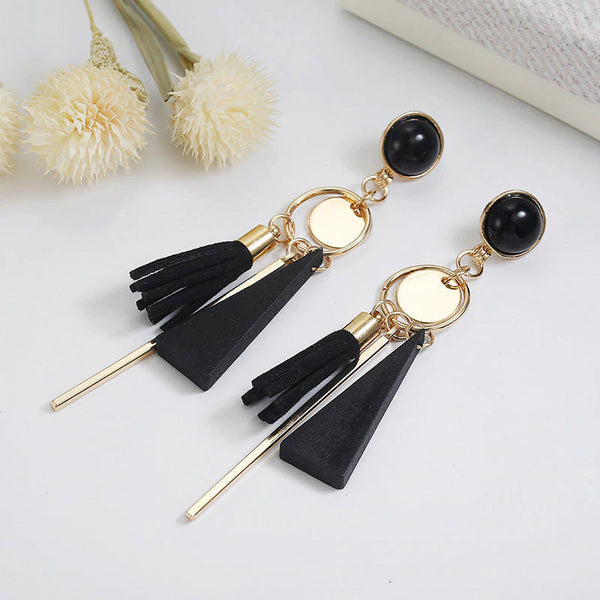 Triangle Geometric Wood Earrings