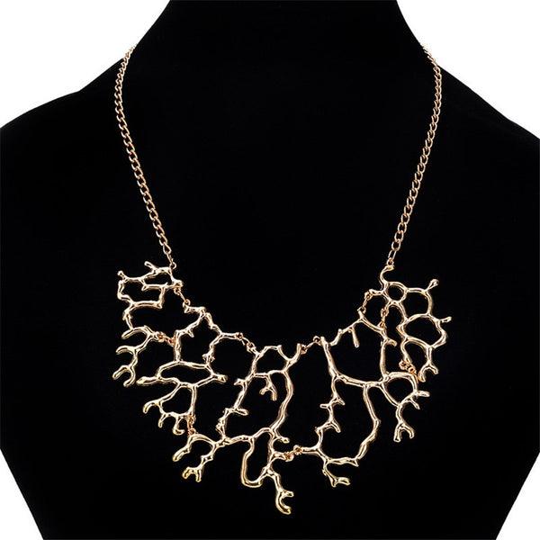 Vintage Classic Coral Women's Metal Necklace