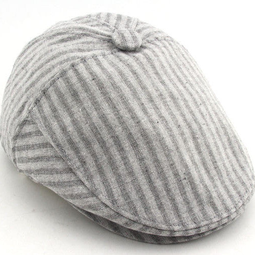 Stripe Berets Casual Spring-Summer Men's Hat