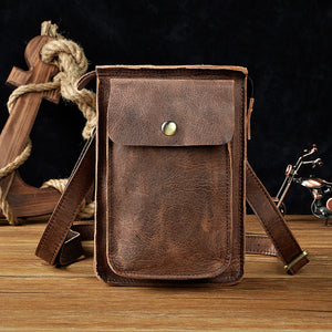 Special Clearance Sale - Oil Leather Waist Bag