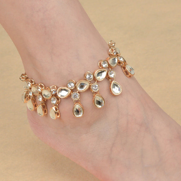 1PCS Crystal Rhinestone Foot Chain Leg Bracelet