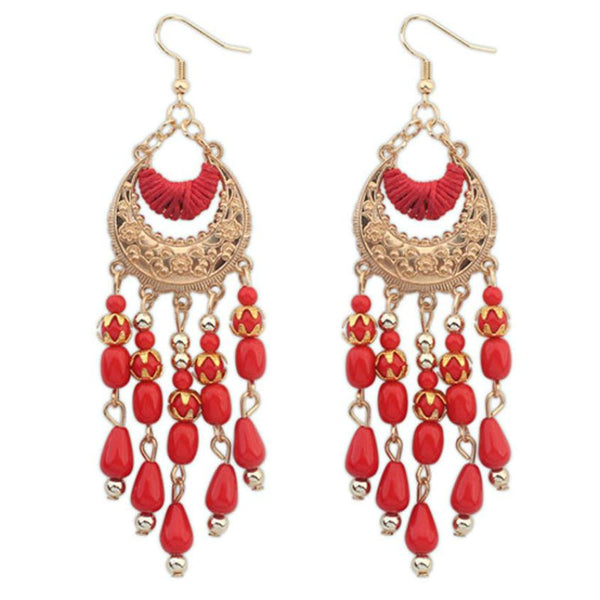 Big Beads Pendant Drop Earrings