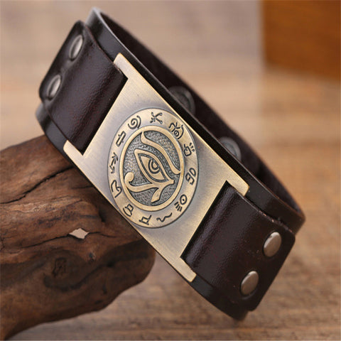 Eye of Horus And Ancient Egypt Runes Bracelet
