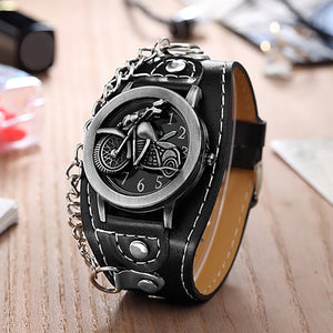 Watch with Motorcycle Decor