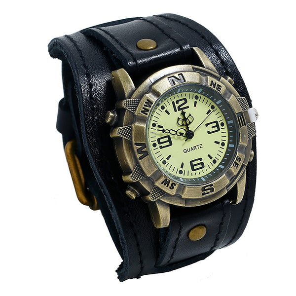 Buckle Strap Leather Watch