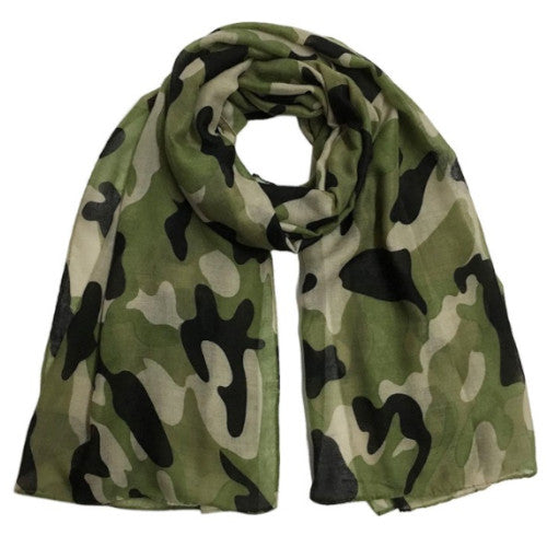 Luxury Brand Camouflage Print Shawl Soft Scarves