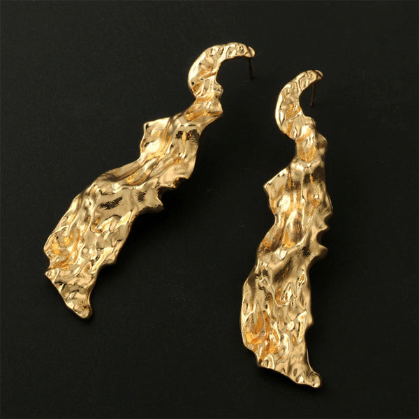 Vintage Irregular Long Drop Earrings