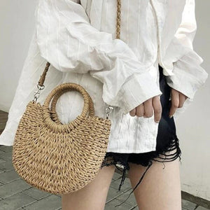 Rattan Cross-body Handbag