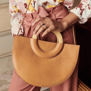 Wooden Handle Handbag