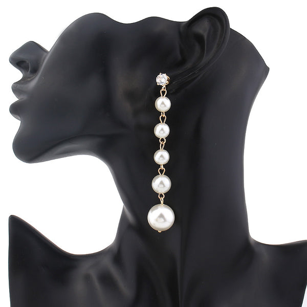 Trendy Elegant Pearl Long Earrings