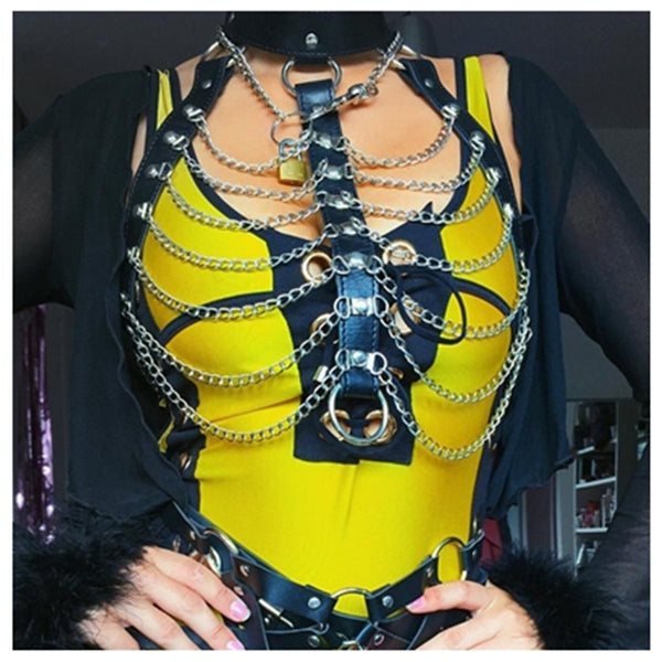 Multilayered Chain Body Necklace