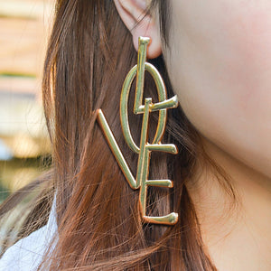 Big&Long Letters Love Earrings