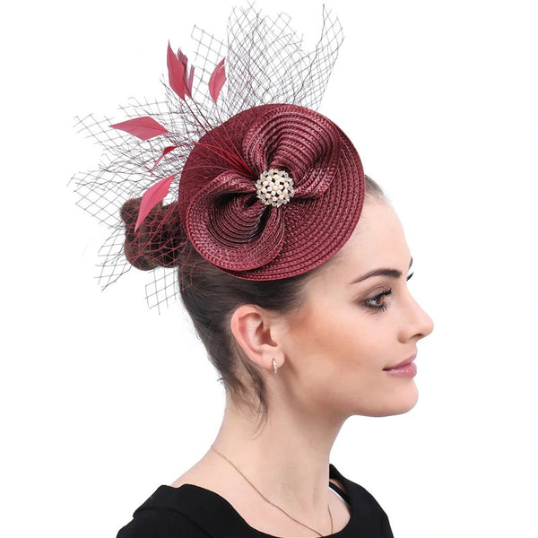 Weddings, Occasions - Marron Fascinators Hat