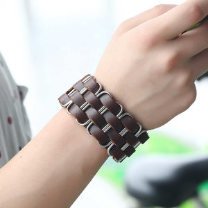 Geometry Braid Leather Bracelet