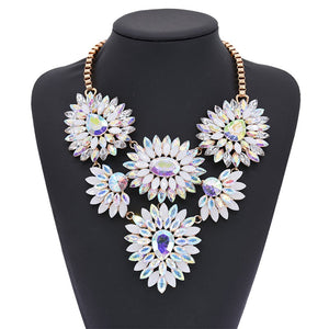 Unicorn Crystals Statement Necklace