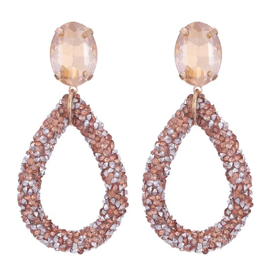Champagne Crystals Earrings