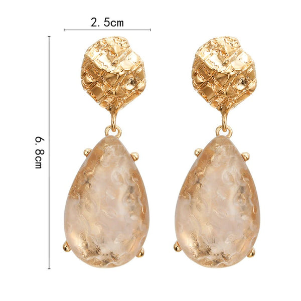Blush Pink and Gold Statement Earrings