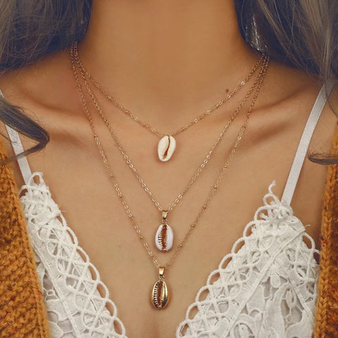 Three Layers Shell Necklace