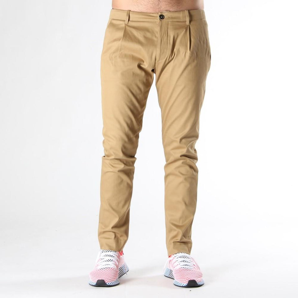 Trousers for men NINE IN THE MORNING FOLD CAMEL