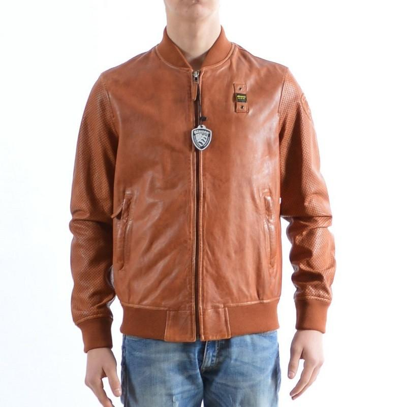 Leather bomber BLAUER BLUL02523 354