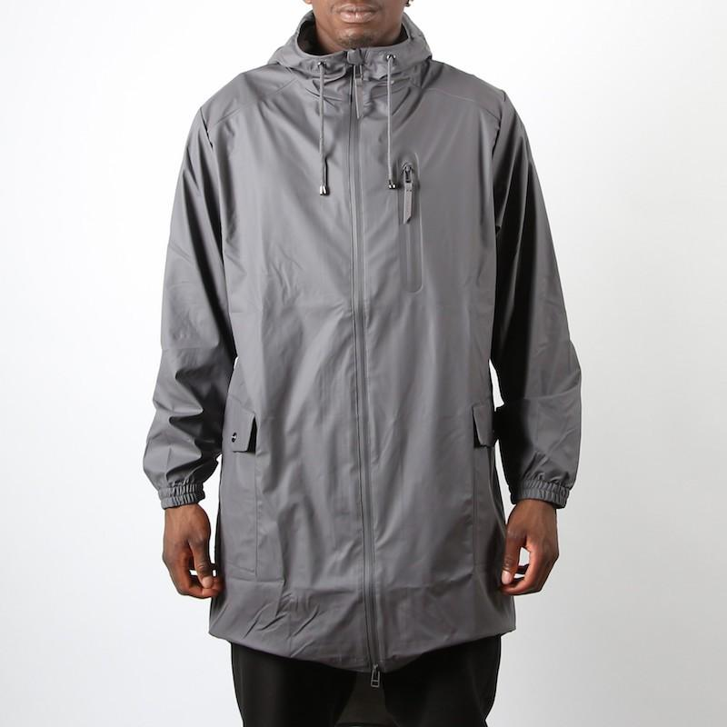 Coat for men RAINS PARKA COAT SMOKE