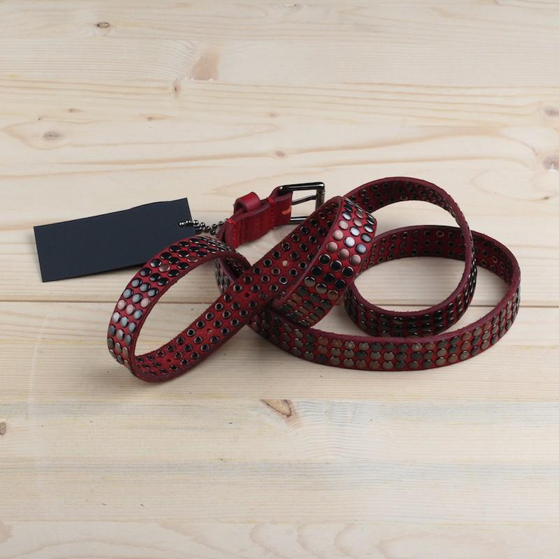 Belt for women HTC 10000 STUDS FEMALE BELT 16WHTCI002 RED