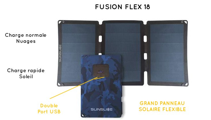 Fusion Flex 18 large flexible portable solar panel