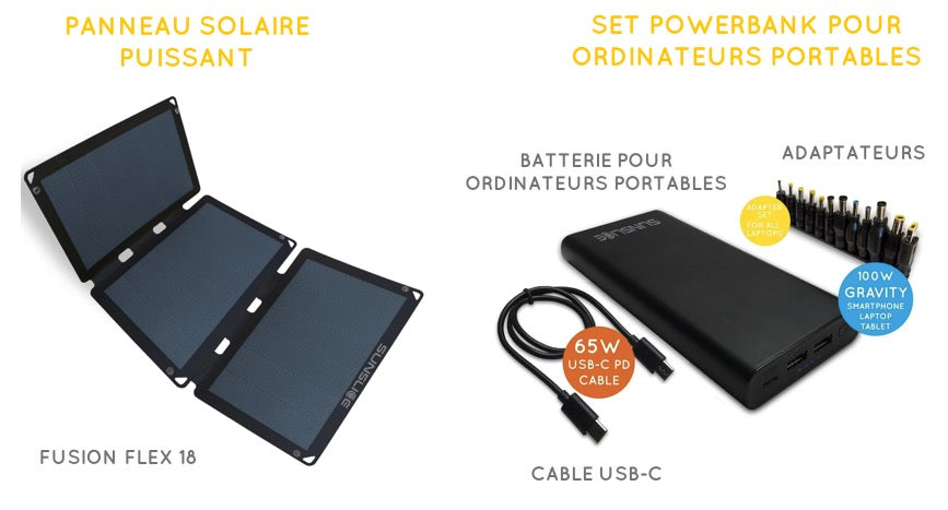 set powerbank solar panel for laptop